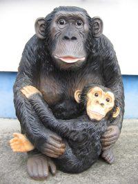 Affe-mit-Kind
