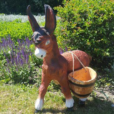 Der Esel mit Korb