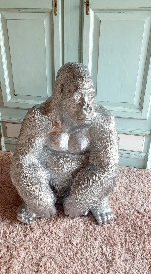 sitzende gorilla kunstharz gartenfiguren gartenfantasy plastikfiguren