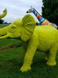 bunte elephant designe figuren gartenfiguren gartenfantasy