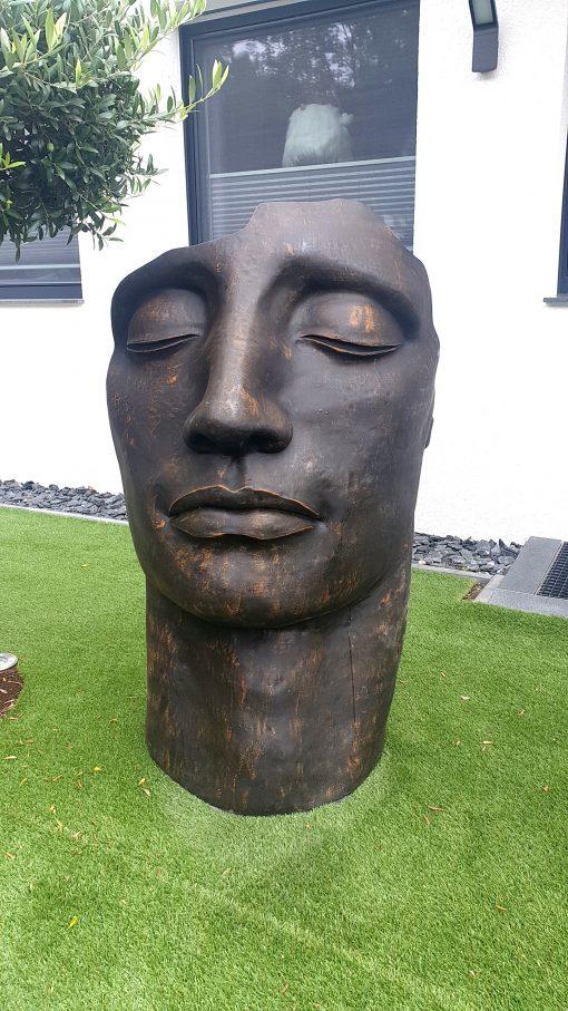 garten figur garten Statue betongesicht
