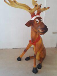 rentier fieberglass weihnachten garten figuren gartenfantasy