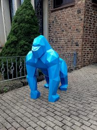gorilla polygonal gartenfantasy gartenfigur lebensgross weltplastik