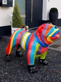 englische bulldogge garten fantasy gartenfigur