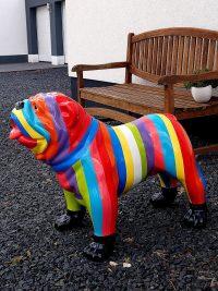 englische bulldogge garten figur dekofigur