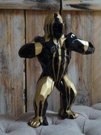gorilla polygonal gartenfigur maskenpflicht dekofigur garten fantasy