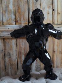 gorilla polygonal masek pflicht gartenfigur dekofigur design