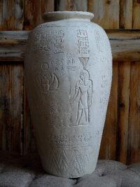 ägyptianische vase dekofigur masken pflicht designe figuren gartenfiguren gartenfantasy