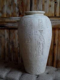 ägyptische vase kunstharz gartenfiguren garten fantasy