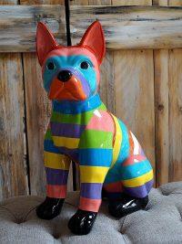 französische bulldogge gartenfiguren garten fantasy