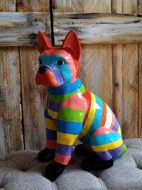 französische bulldogge kunstharz gartenfiguren garten fantasy