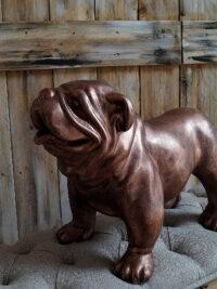 englische bulldogge dekofigur weihnachtsgeschenk weichnachtsideekunstharz gartenfiguren garten fantasy