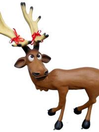 rentier rudi elch weihnachten gartendeko gartenfigur
