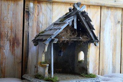 krippenstall weihnachtsdeko garten fantasy